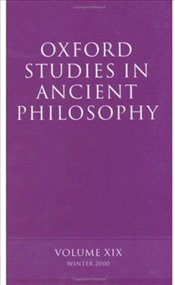 Oxford Studies in Ancient Philosophy : Volume XIX : Winter 2000 (v.19) - Sedley, David
