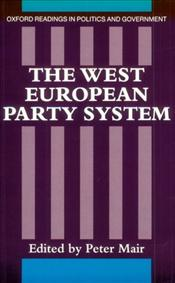 West European Party System - Mair, Peter