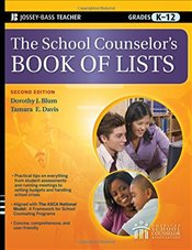 School Counselors Book of Lists  - Blum, Dorothy