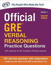 Official GRE Verbal Reasoning Practice Questions Volume I 2e - ETS