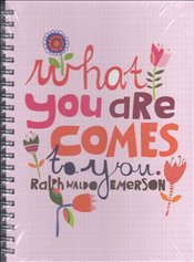 Deffter - Lovely What You Are Comes Sert Kapak Spiralli Çizgili Defter 20x28 96yp. -