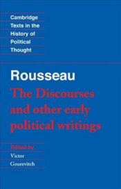 Rousseau : The Discourses and Other Early Political Writings V 1 - Rousseau, Jean-Jacques