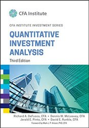 Quantitative Investment Analysis 3E - DeFusco, Richard A.