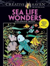 Creative Haven Sea Life Wonders Coloring Book: Amazing Designs on a Dramatic Black Background (Adult - Boylan, Lindsey
