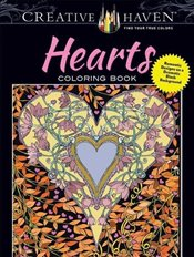 Creative Haven Hearts Coloring Book: Romantic Designs on a Dramatic Black Background (Adult Coloring - Boylan, Lindsey