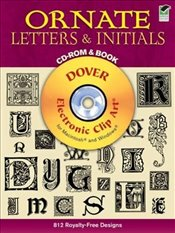 Ornate Letters (Dover Electronic Clip Art) - Inc, Dover Publications