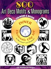 500 Art Deco Motifs and Monograms (Dover Electronic Clip Art) - Welo, Samuel