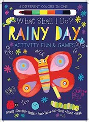Rainy Day Activity Fun & Games: Drawing, Searching, Numbers, More! Dot to Dot, Mazes, Puzzles Galore - Golding, Elizabeth