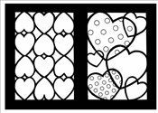 Hearts Stained Glass Coloring Book (Dover Stained Glass Coloring Book) - Beylon, Cathy