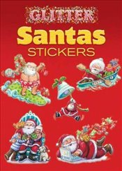 Glitter Santas Stickers (Dover Little Activity Books Stickers) - Han, Yu-Mei