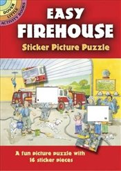 Easy Firehouse Sticker Picture Puzzle (Dover Little Activity Books) - Beylon, Cathy