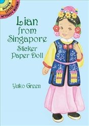 Lian from Singapore Sticker PD (Dover Little Activity Books Paper Dolls) - Green, Yuko
