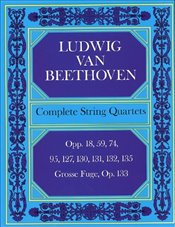 DOVER BEETHOVEN L.VAN - COMPLETE STRINGS QUARTET Classical sheets Chamber music - Beethoven, Ludwig Van