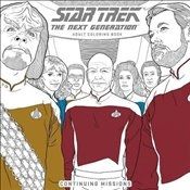 Star Trek : The Next Generation Adult Coloring Book Continuing Missions   - CBS,