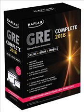 Kaplan GRE Complete 2018 : The Ultimate in Comprehensive Self-Study for GRE : Online + Book + Mobile - Kaplan