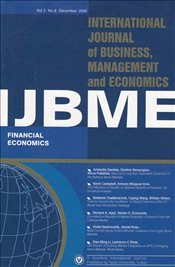 IJBME : International Journal of Business Management and Economics : Vol. 2 No.8 December 2006 - Aktan, Coşkun Can