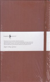 Fabio Ricci - Ruled Notebook 13x21 80yp. (Kahverengi) -