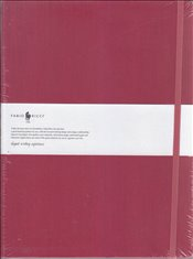 Fabio Ricci - Ruled Notebook 19x25 80yp. (Bordo) -