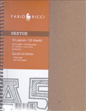 Lipe Collection - Sketch Spiralli Çizim Defteri A5 70yp. -