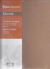 Lipe Collection - Sketch Spiralli Çizim Defteri A4 50yp. -