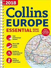 2018 Collins Essential Road Atlas Europe -