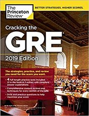 Cracking the GRE with 4 Practice Tests : 2019 Edition  -