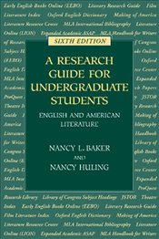 Research Guide for Undergraduate Students - Baker, Nancy L.