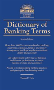 Dictionary of Banking Terms -