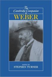 Companion to Weber - Turner, Stephen P.