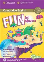 Fun for Movers Students Book with Home Fun Booklet 4 (Fourth Edition) con actividades online - Robinson, Anne