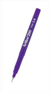Artline - 200N Fine Writing Pen Fiber Uçlu Kalem 0.4 (Mor) -