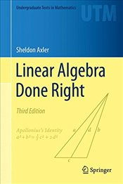 Linear Algebra Done Right 3E - Axler, Sheldon
