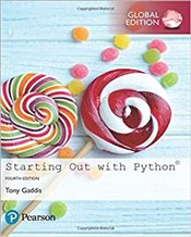 Starting Out With Python 4e GE - Gaddis, Tony