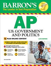 Barrons AP U.S. Government and Politics 11e : With Bonus Online Tests - Lader, Curt