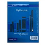 MyMathLab -- Access Card -- College Algebra and Trigonometry, Global Edition - McWaters, Marcus S.