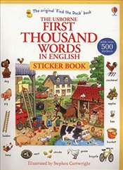 First Thousand Words in English Sticker Book - Amery, Heather