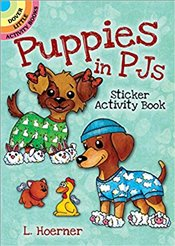 Puppies in PJs Sticker Activity Book : Dover Little Activity Books -