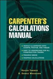 Carpenters Calculations Manual - Tarbox, Roger